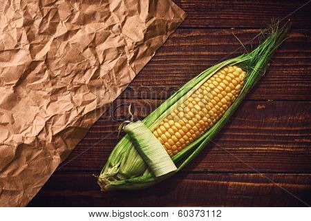 Ear Of Corn On The Table