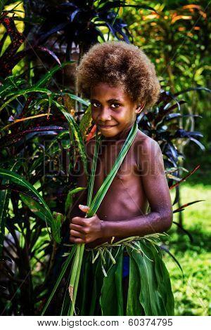 Melanesian girl in Luganville, Vanuatu