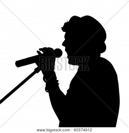 Pop Singer Silhouette
