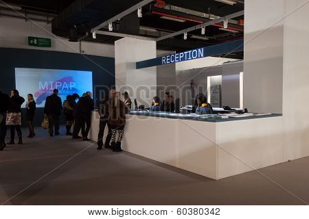 Reception At Mipap Trade Show In Milan, Italy