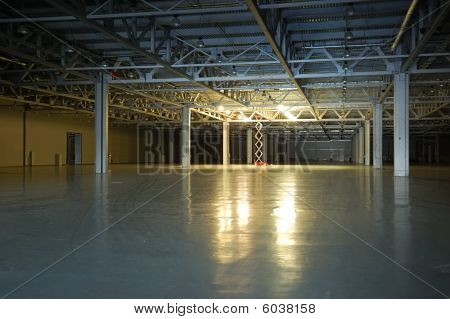 Empty Dark Storehouse
