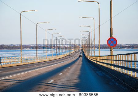 On The Bridge From Oland In Sweden