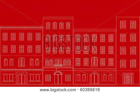Residential area red