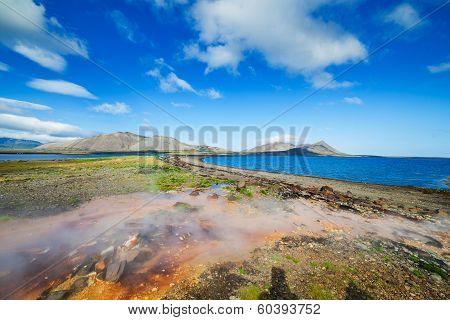 Hot geothermal spring.