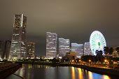 foto of minato  - Yokohama skyline at minato mirai area at night view - JPG