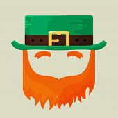 Irish St. Patricks Day leprechaun icon