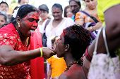 Penang, Malaysia - January 17: Hindu Devotee Prepare For Hindu Ritual  In Thaipusam Festival On Janu