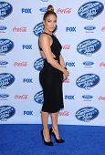 LOS ANGELES - FEB 20:  Jennifer Lopez arrives to the American Idol Top 13 Finalists  on February 20,