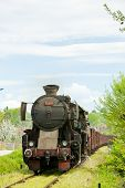 image of former yugoslavia  - steam freight train in Tuzla region - JPG