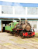 picture of former yugoslavia  - steam locomotive in depot - JPG