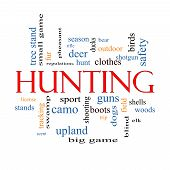 Hunting Word Cloud Concept