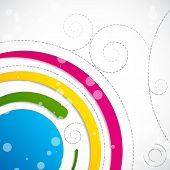 picture of swirly  - easy to edit vector illustration of abstract swirly background - JPG