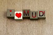 stock photo of mud pack  - I Love Mud - JPG