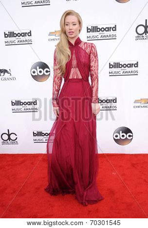 LAS VEGAS - MAY 18:  Iggy Azalea arrives to the Billboard Music Awards 2014  on May 18, 2014 in Las Vegas, NV.
