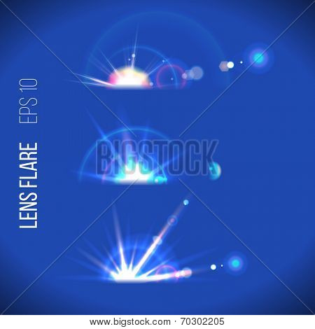 3 lens flare icons for your designs