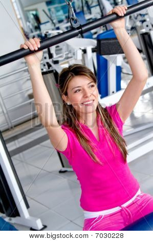 Girl Doing Exercise