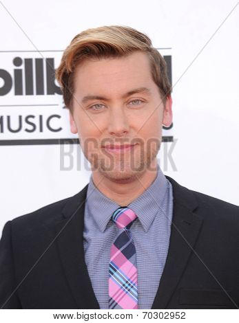 LAS VEGAS - MAY 18:  Lance Bass arrives to the Billboard Music Awards 2014  on May 18, 2014 in Las Vegas, NV.