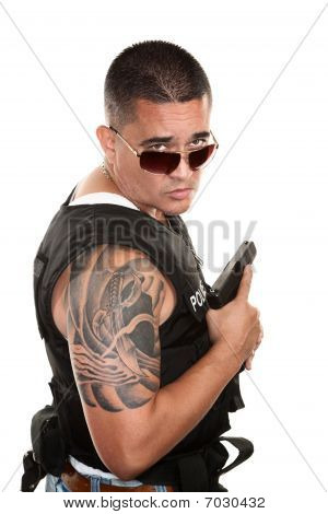 Tough Hispanic Cop