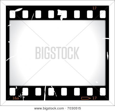Grunge film strip illustration