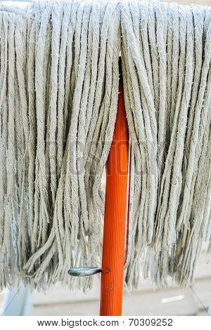 Old Orange Swab For Cleaning Floor