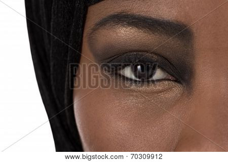 Beautiful Black Oriental Colored Woman: Eyes And Beauty.