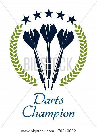 Darts shampion sporting emblem