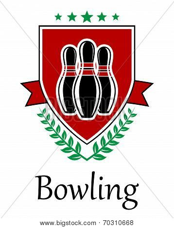 Bowling symbol for sporting deseign