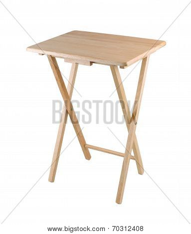 small fold able wooden table