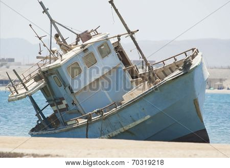 Old Abandoned Fishing Boat Wreck