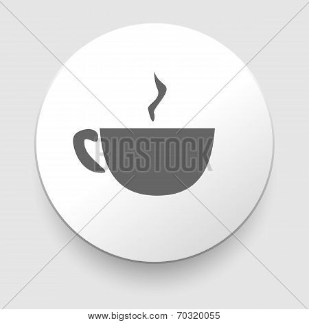 Hot coffee cup on saucer