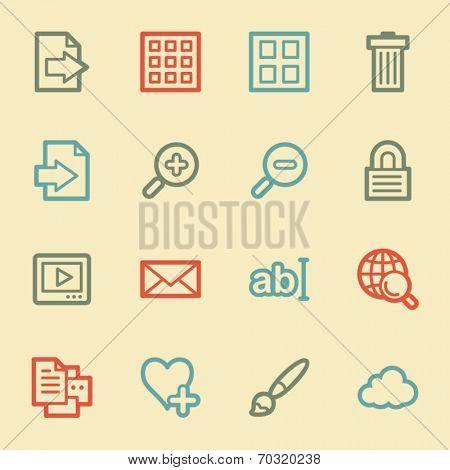 Image viewer web icons, retro color