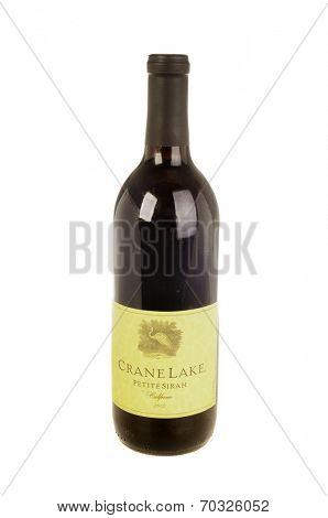 West Point - August 17, 2014: Bottle of Crane Lake, California Petite Sirah