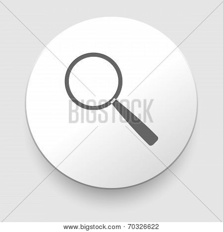 Search Icon Vector - magnifier
