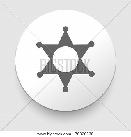 Star Sheriff sign icon. Police button. Symbol.