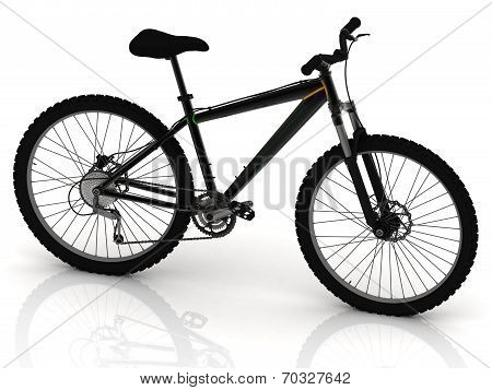 Black Sports Bike With Wheels And Brake Levers