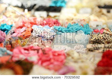 Colorful fabrics background
