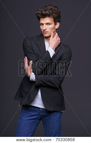 Fashion model with modern haircut