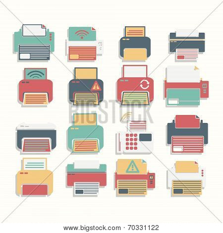 Icons  Printer full color Set