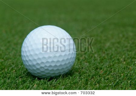 Golf-ball On Green