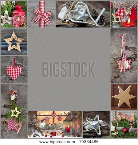 Rustic And Classic Decoration Ideas For Christmas - Country Style Background With Wood