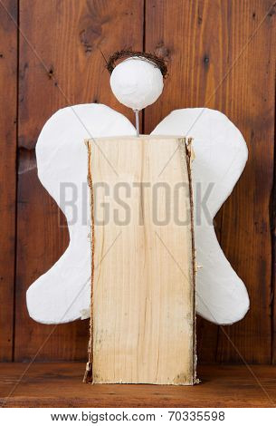 Wooden Glory Angel For Christmas - Idea For Hobby