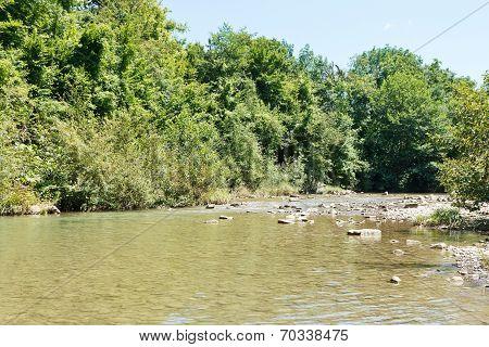 Abin River In Caucasus Mountains, Russia