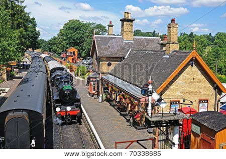 Ivatt Class 4 in Arley railway station.