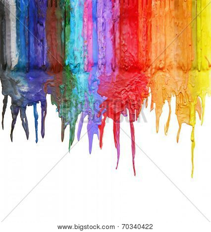 color and texture background series (melted coloring crayons) good for back to school theme or teaching elementary school children primary colors