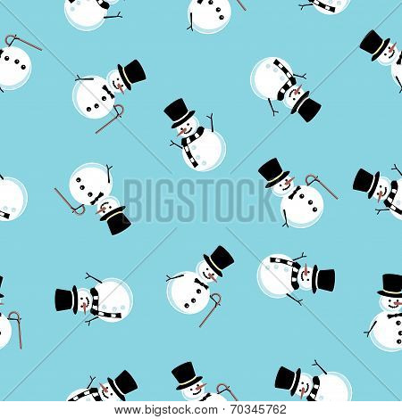 seamless background of the snowman
