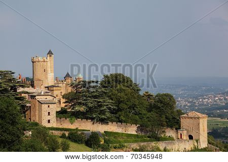 View of the castle of Montmelas