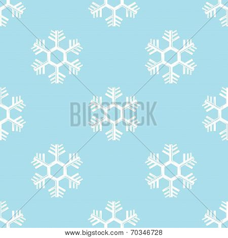 simple seamless order background of snowflake