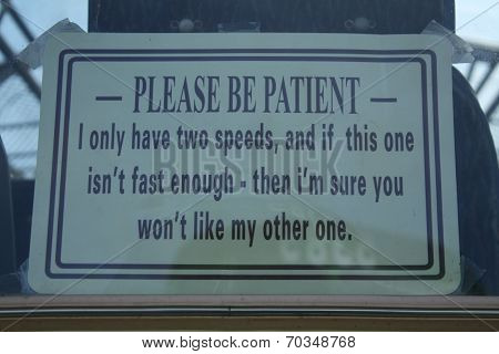 Please be patient