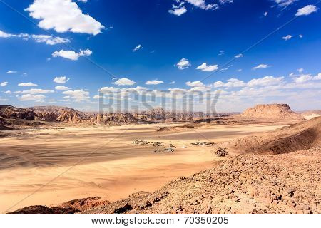 Tiny Bedouin Village In The Sinai Desert
