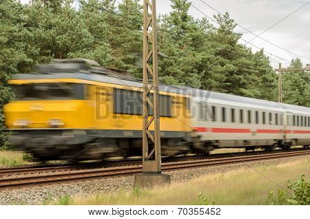 Passenger Train Races Past